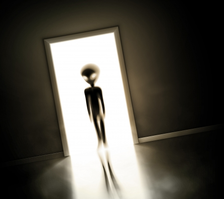 fantasy alien: Alien at door