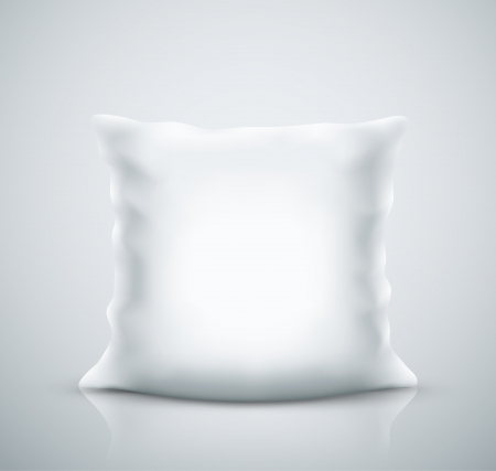 Isolated white pillow Stock Vector - 23111309