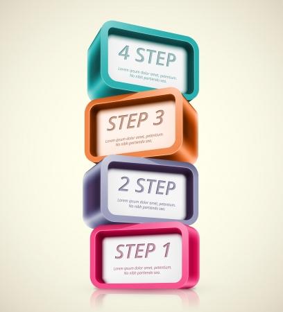 Four steps, infographics banner Ilustrace