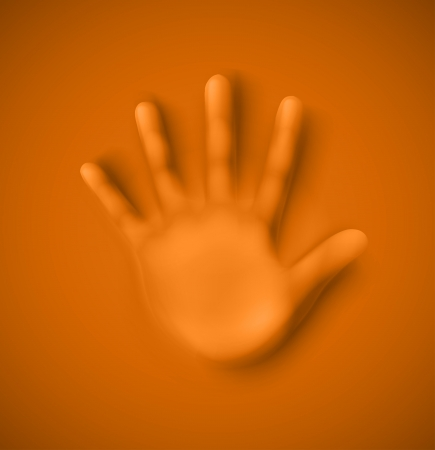 Isolated human palm Illustration