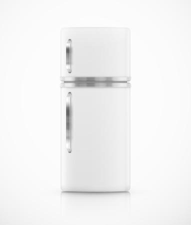孤立した白い冷蔵庫
