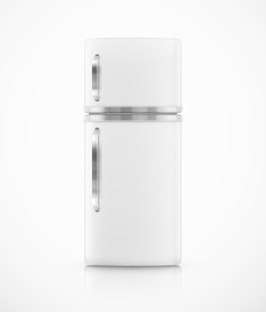 Isolated white fridge Vector