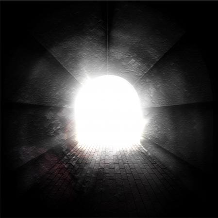 トンネルの終わりに光  イラスト・ベクター素材