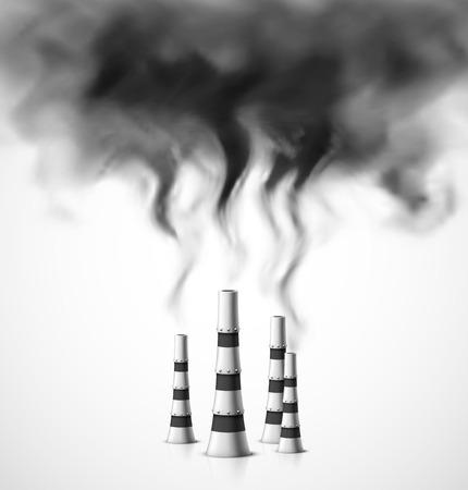 Verschmutzung der Umwelt Illustration