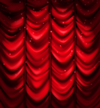 Red curtain, vector background Vector