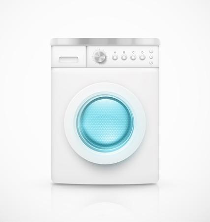 rinse: Isolated washing machine Illustration