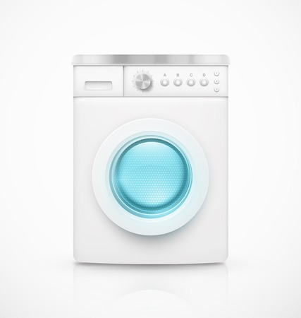 lavadora con ropa: Lavadora Aislado