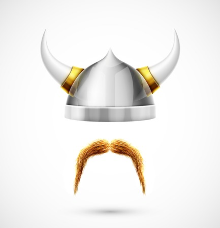 Viking accessories (helmet and mustache) Ilustrace