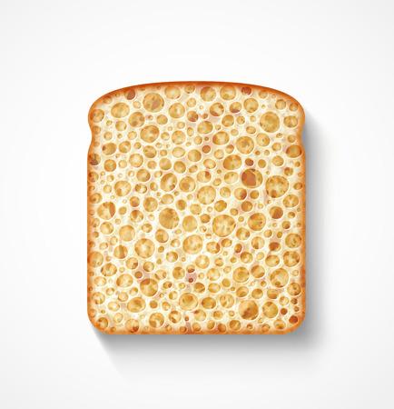 Isolated bread slice Stock Vector - 24149692