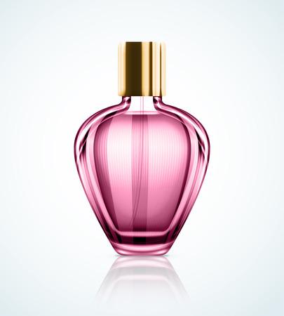 botella: Botella de perfume aislada Vectores