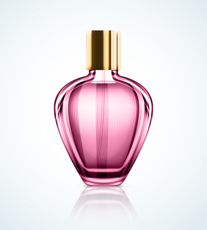 fragrant: Isolated perfume bottle