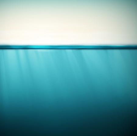 Pod vodou, p?�rodn� pozad� Ilustrace