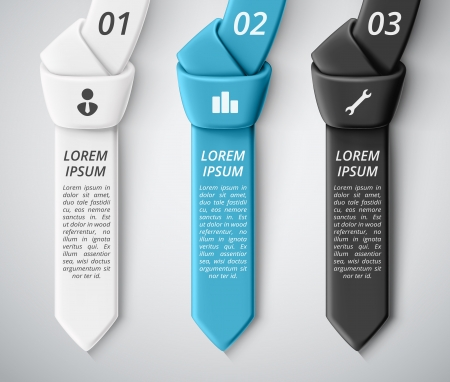 Drei Schritte, Infografiken Elemente, eps 10