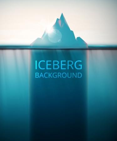 Abstracte ijsberg achtergrond, eps 10