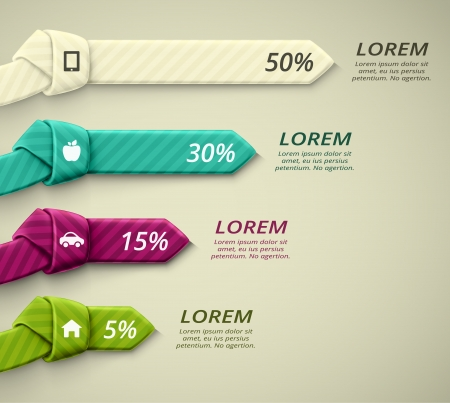 Infographics elements, percent statistics, eps 10 Vector