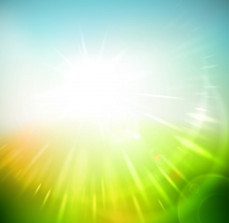 Spring abstract sun rays