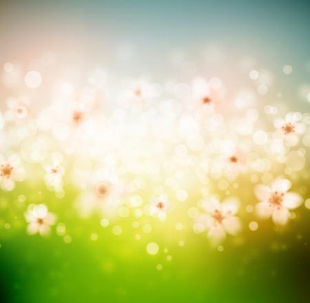 Spring with flowers Çizim