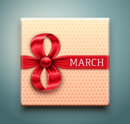 Gift for 8 March, Women's Day, eps 10 Vector
