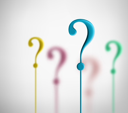 Signos de interrogación coloridos, eps 10