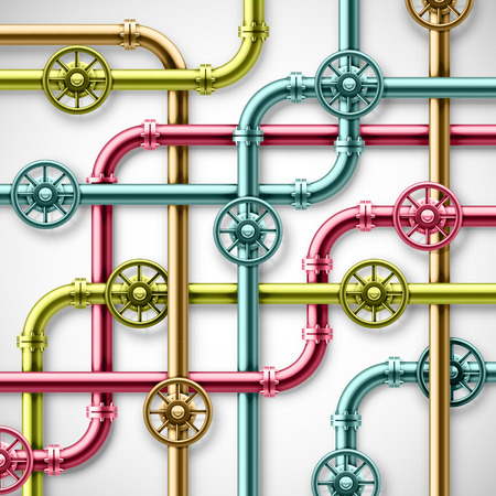Colorful metal pipes Vector