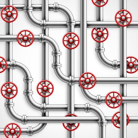 Les tuyaux de métal, fond industriel Banque d'images - 26079422