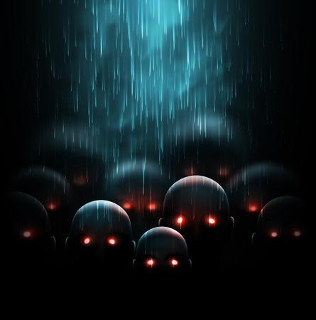 ゾンビの黙示録、神秘的な背景  イラスト・ベクター素材