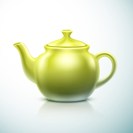 Isolated green teapot, eps 10 Vector