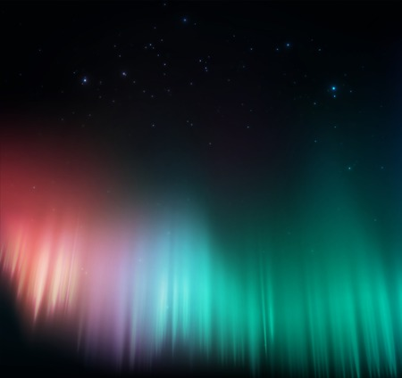 Colorful aurora background