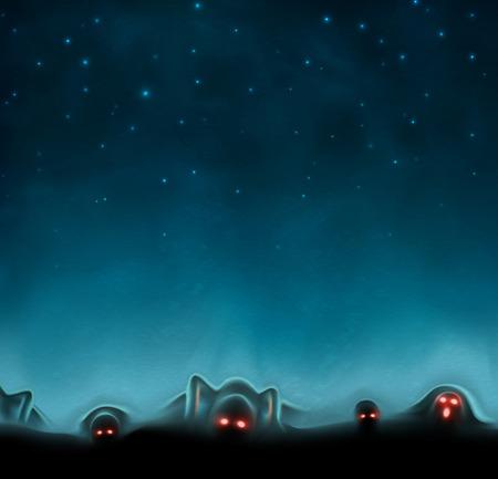 Terrible mystical background Vector