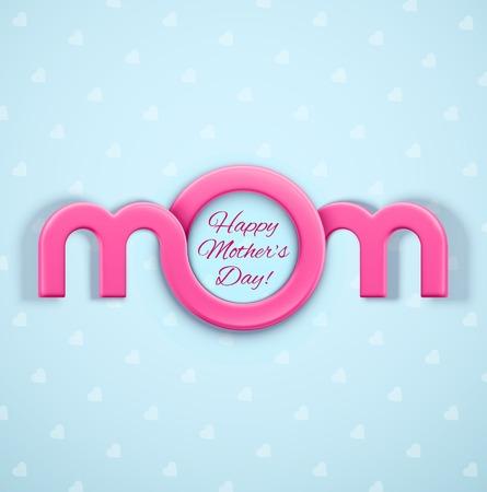 Mom, Mothers Day Illustration