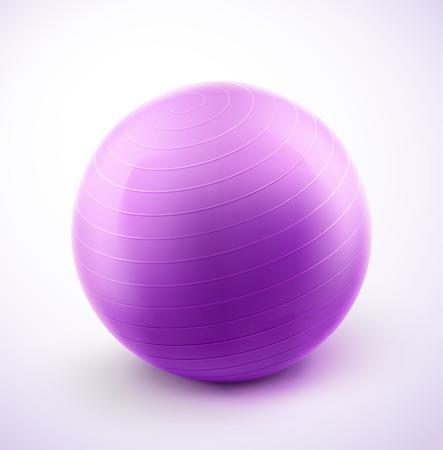 pilates ball: Isolated fitness ball