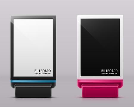 billboard blank: Two vertical billboards, eps 10