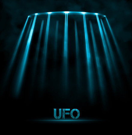 Abstract UFO background Illustration