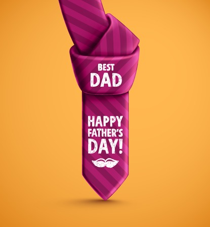 father's: Tie of Fathers Day Illustration