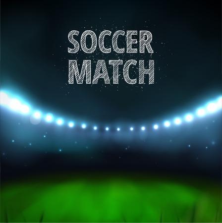 サッカーの試合のスタジアム  イラスト・ベクター素材