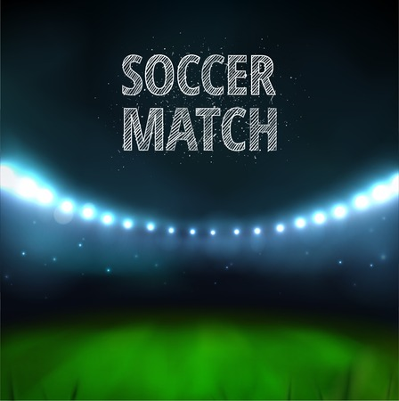 soccer stadium: Soccer match stadium Illustration