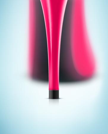 ピンクのハイヒールの靴