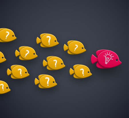チーム リーダーのアイデアの概念  イラスト・ベクター素材