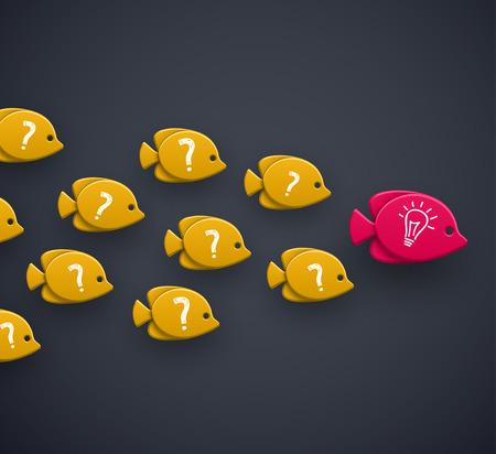 Teamleider idee concept Stock Illustratie