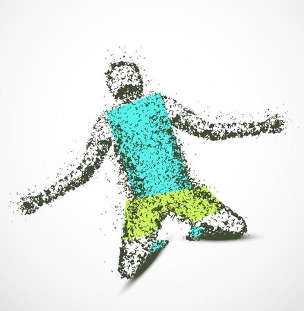 winner man: Abstract man, winner   Illustration