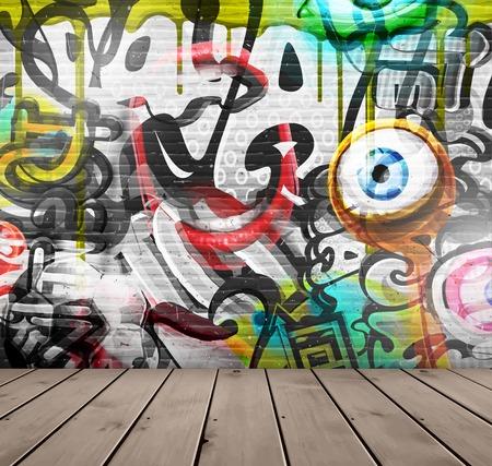 Graffiti na ścianie Ilustracje wektorowe