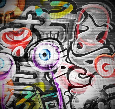 city: Graffiti grunge background