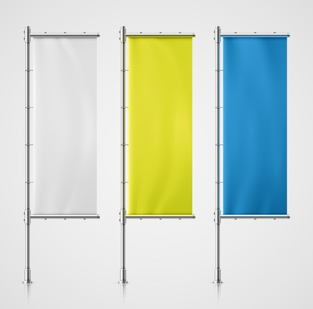 vertical: Vlag Banner Stock Illustratie