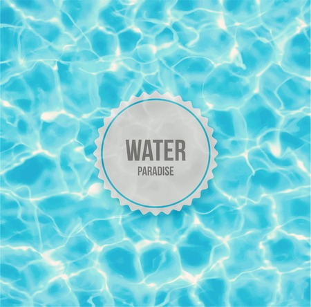 water surface: Water paradise Illustration