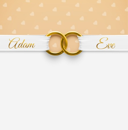 Wedding Background with rings Vector