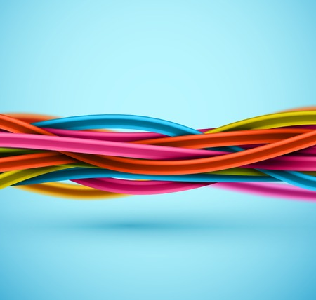 cabling: Closeup electric cable Illustration