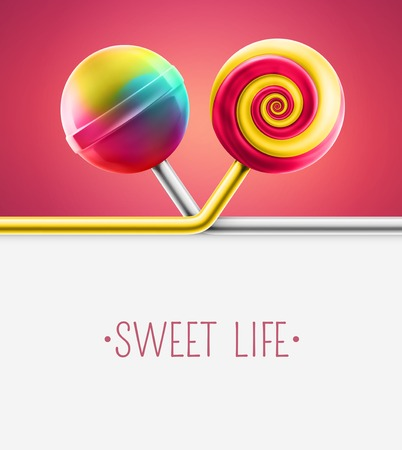 lolly: Candy background Illustration