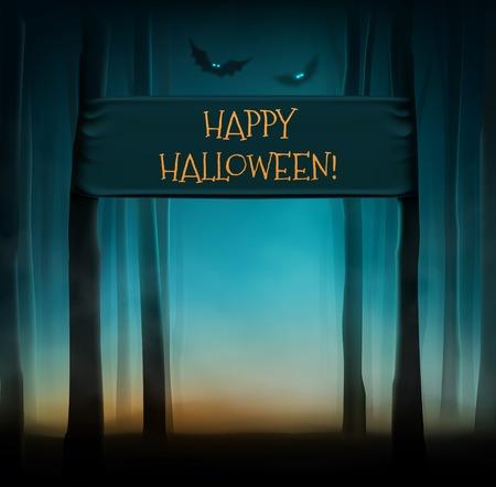 dark forest: Dark forest, happy Halloween