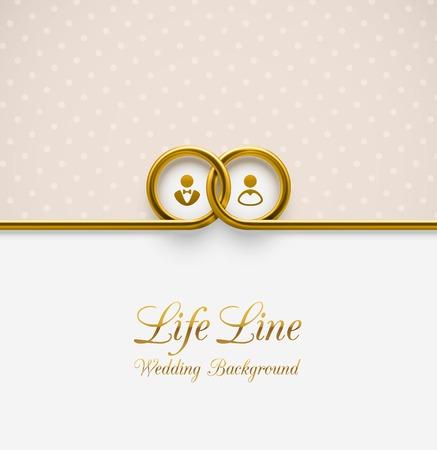 bröllop: Lifeline, br�llop bakgrund Illustration