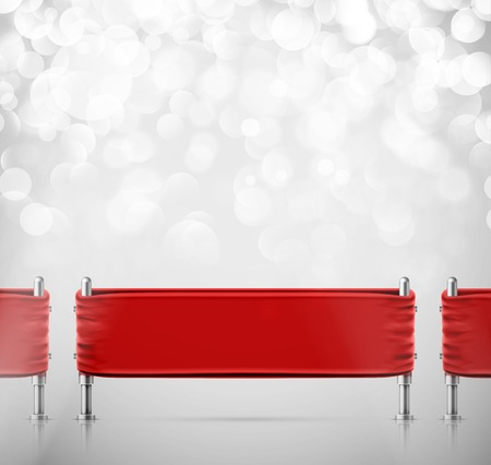 red barrier velvet: Red stanchions barrier
